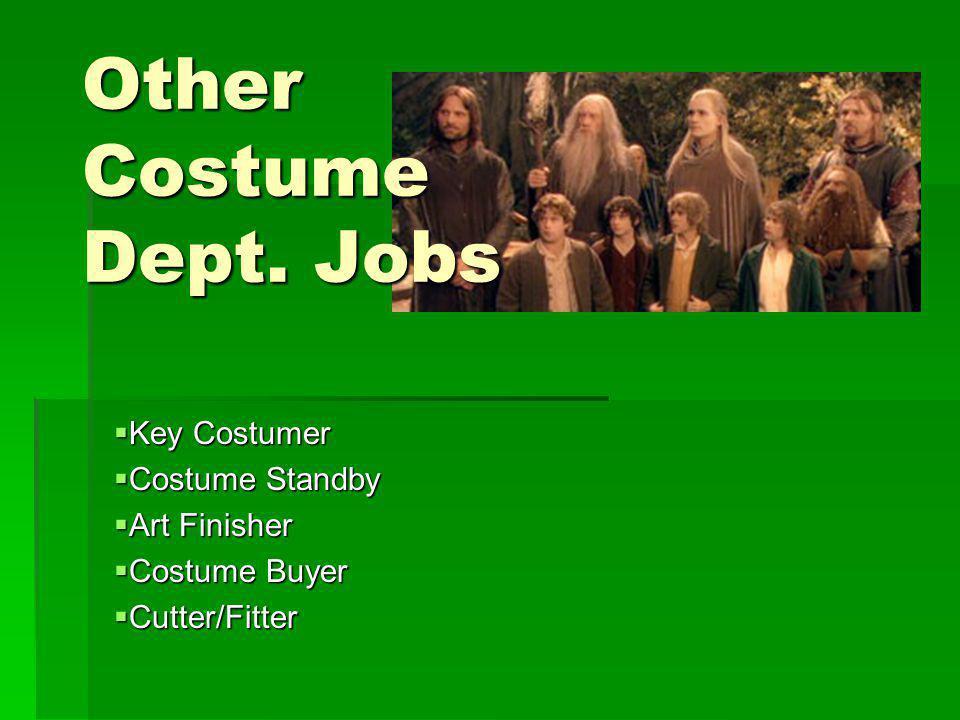 Other Costume Dept. Jobs