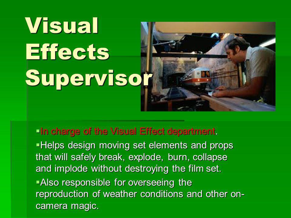 Visual Effects Supervisor
