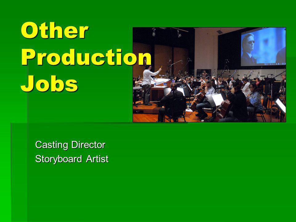 Casting Director Storyboard Artist