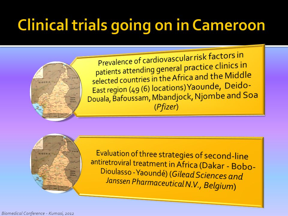 Clinical trials going on in Cameroon