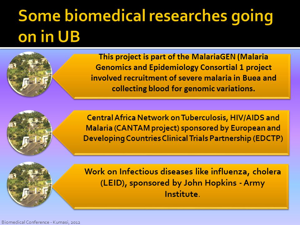 Some biomedical researches going on in UB