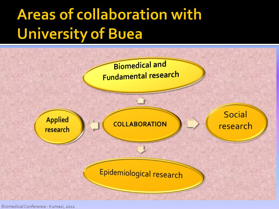 Areas of collaboration with University of Buea