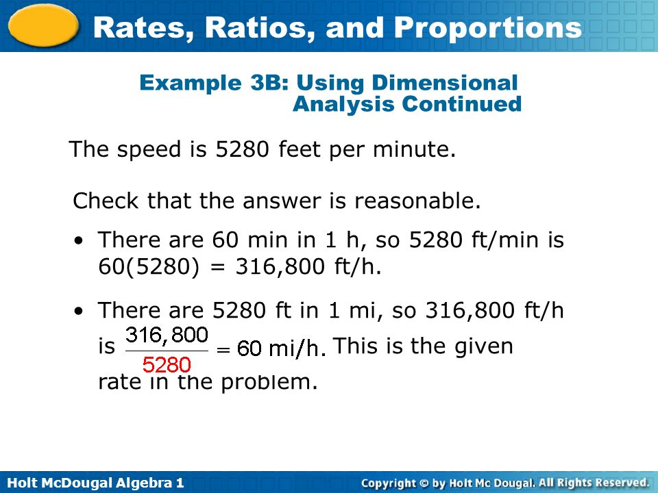 Example 3B: Using Dimensional Analysis Continued