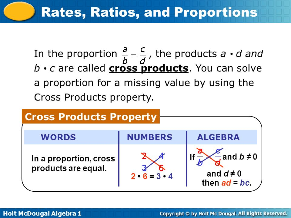 Cross Products Property