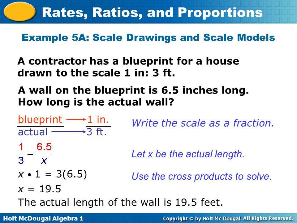 Example 5A: Scale Drawings and Scale Models