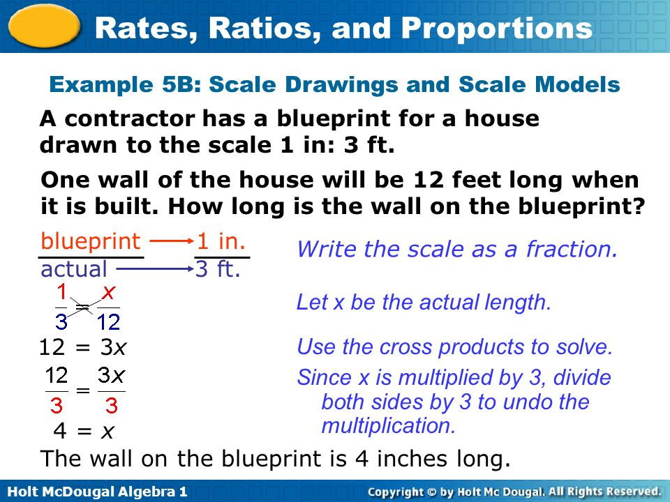 Example 5B: Scale Drawings and Scale Models