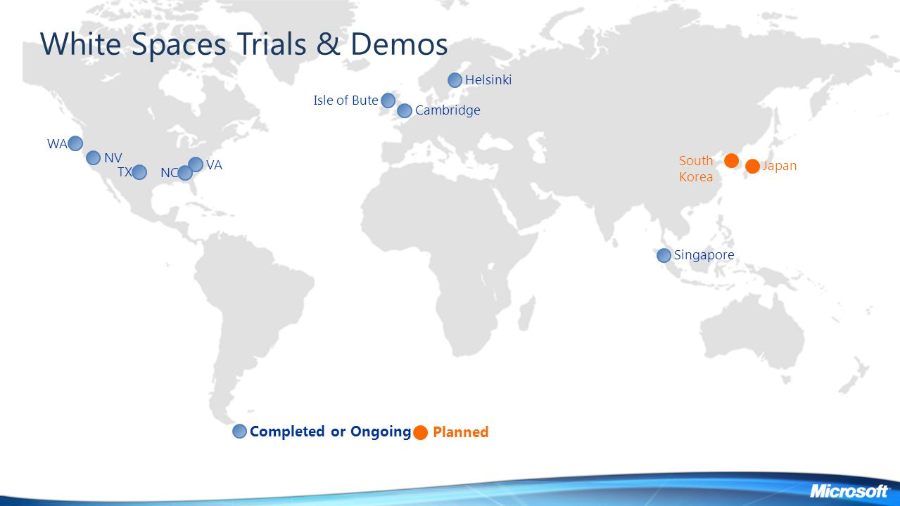 White Spaces Trials & Demos