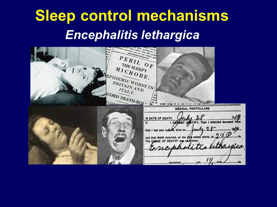 Sleep control mechanisms
