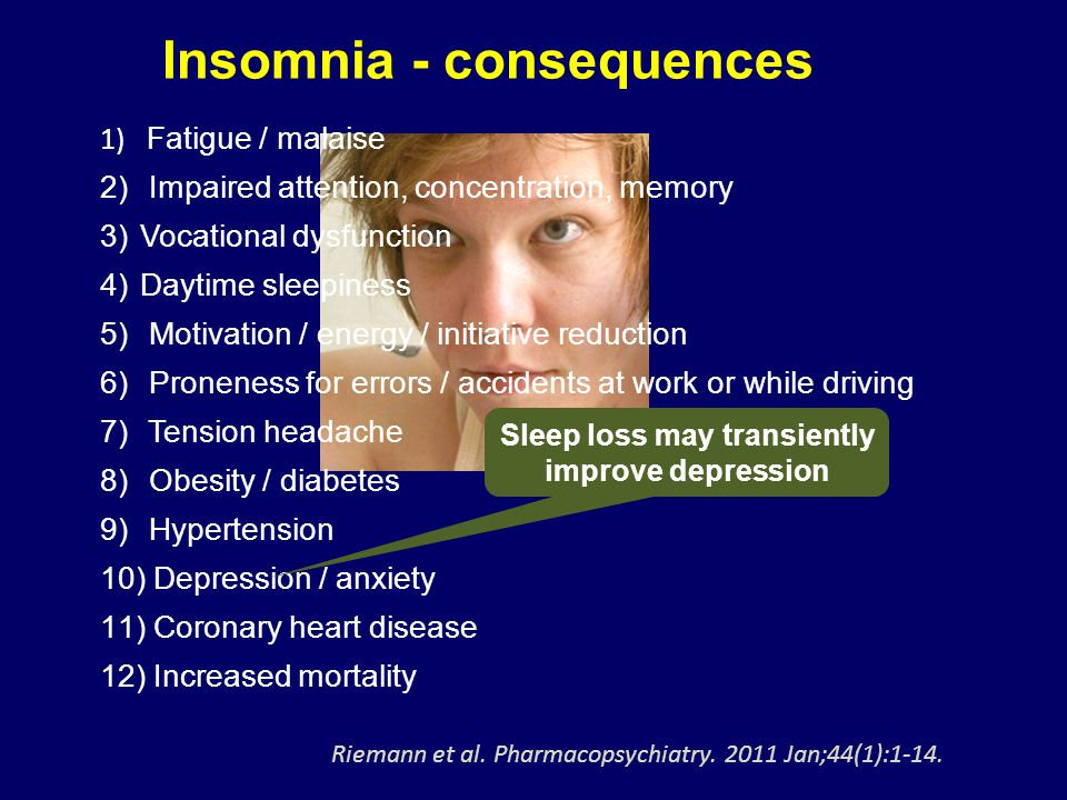 Sleep loss may transiently improve depression