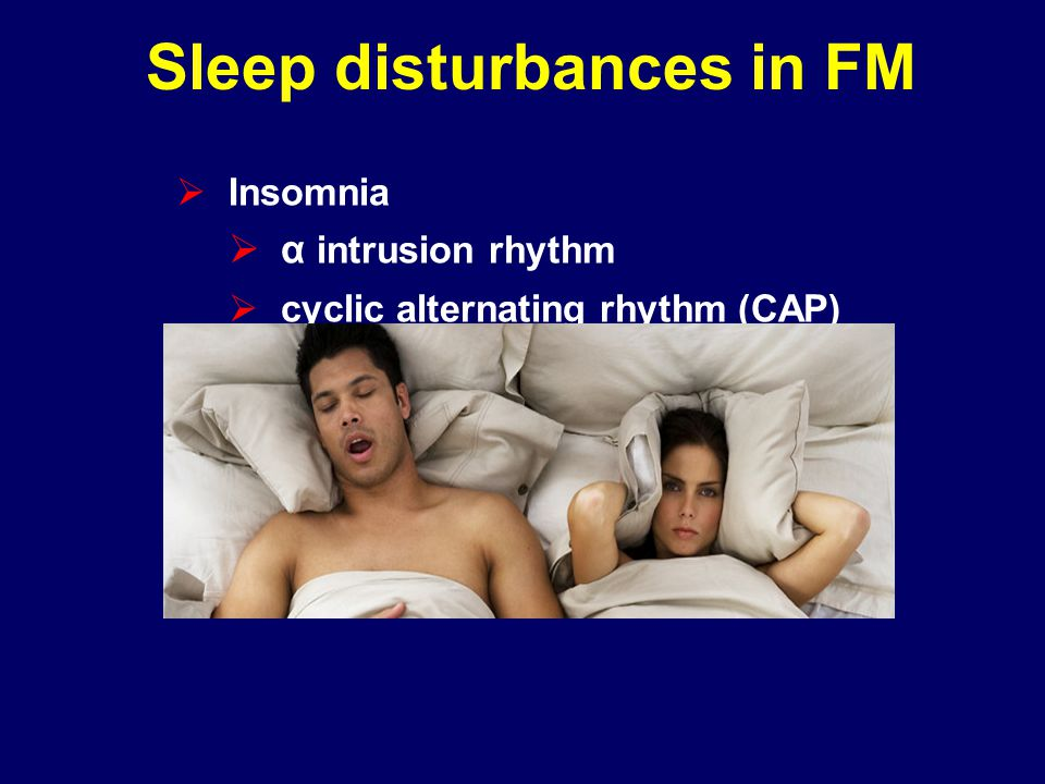 Sleep disturbances in FM