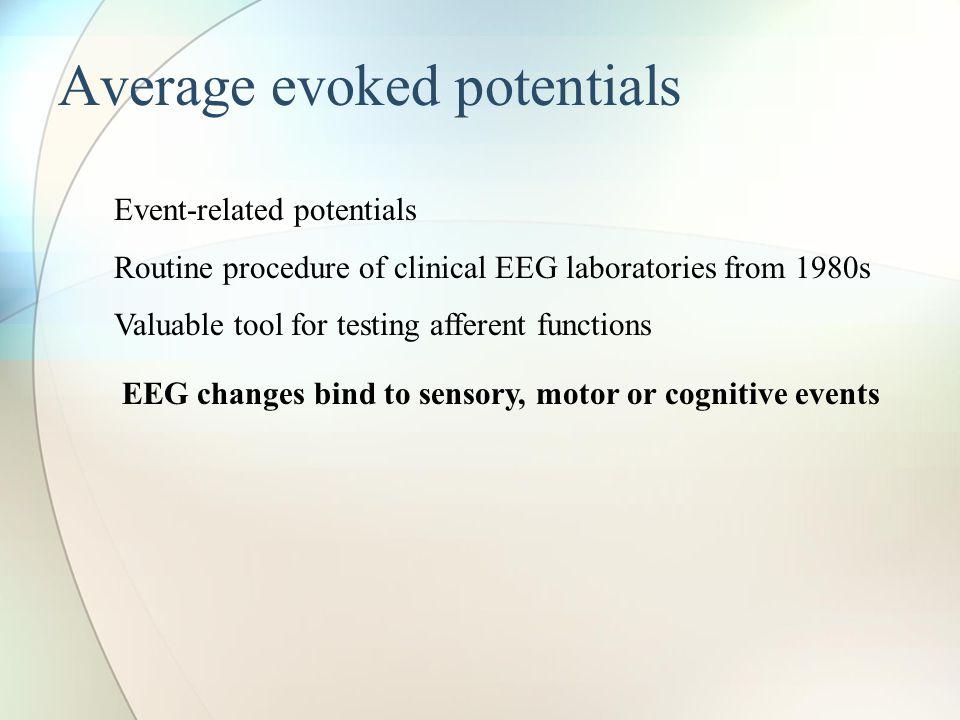 Average evoked potentials