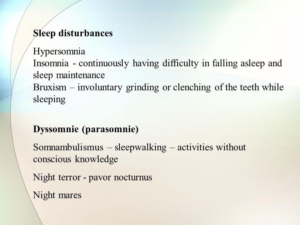 Dyssomnie (parasomnie)