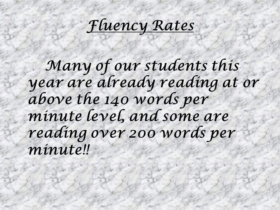 Fluency Rates