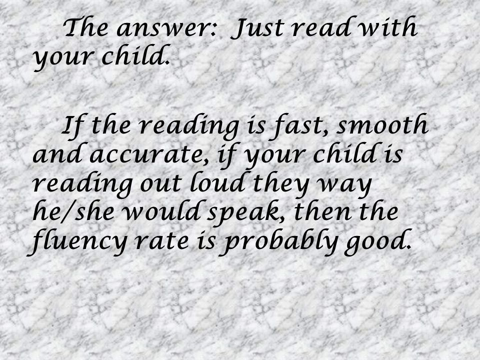 The answer: Just read with your child