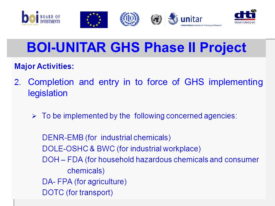 BOI-UNITAR GHS Phase II Project