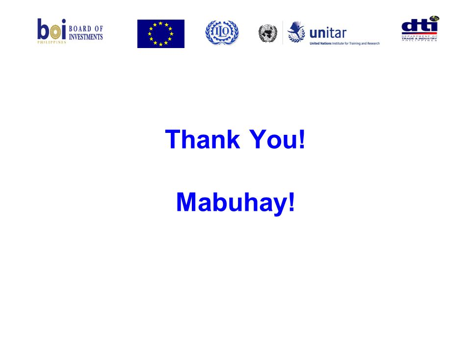 Thank You! Mabuhay!