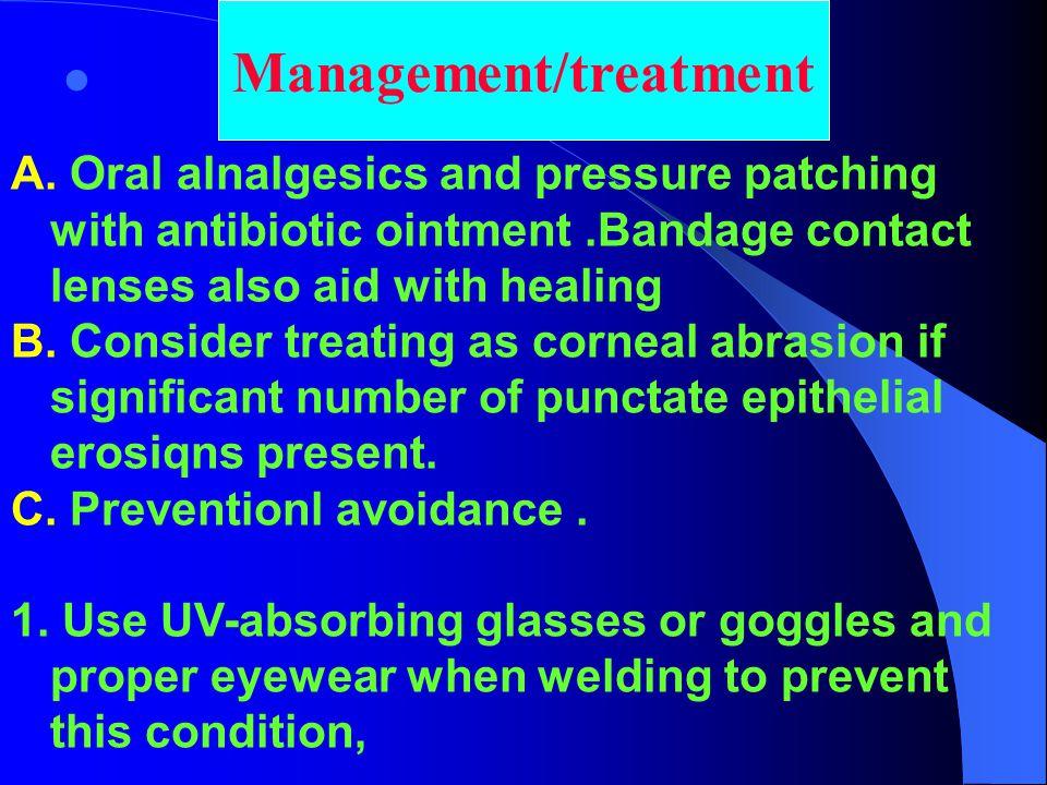 Management/treatment