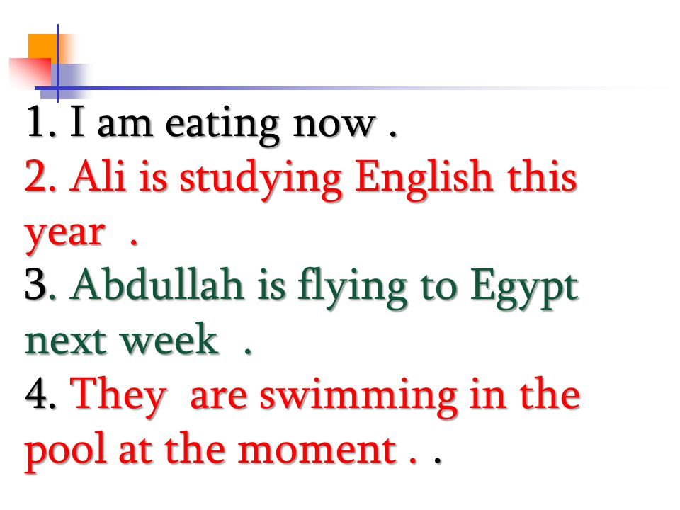 2. Ali is studying English this year .
