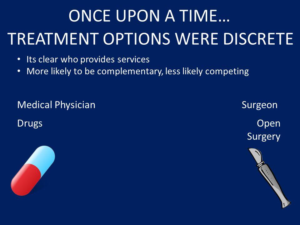 TREATMENT OPTIONS WERE DISCRETE