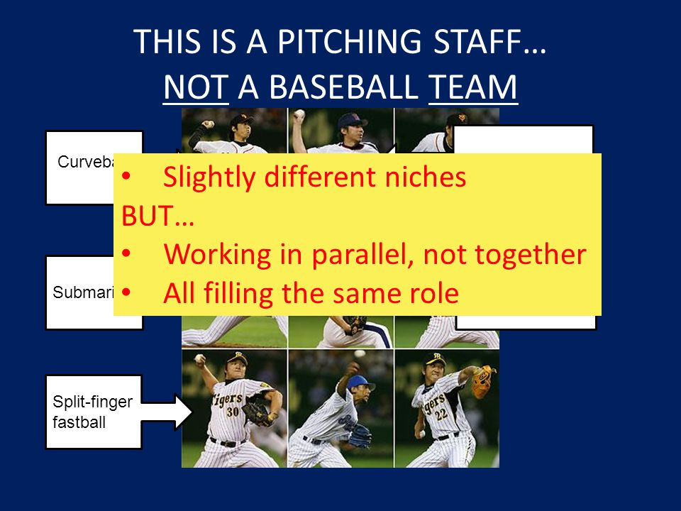 THIS IS A PITCHING STAFF… NOT A BASEBALL TEAM
