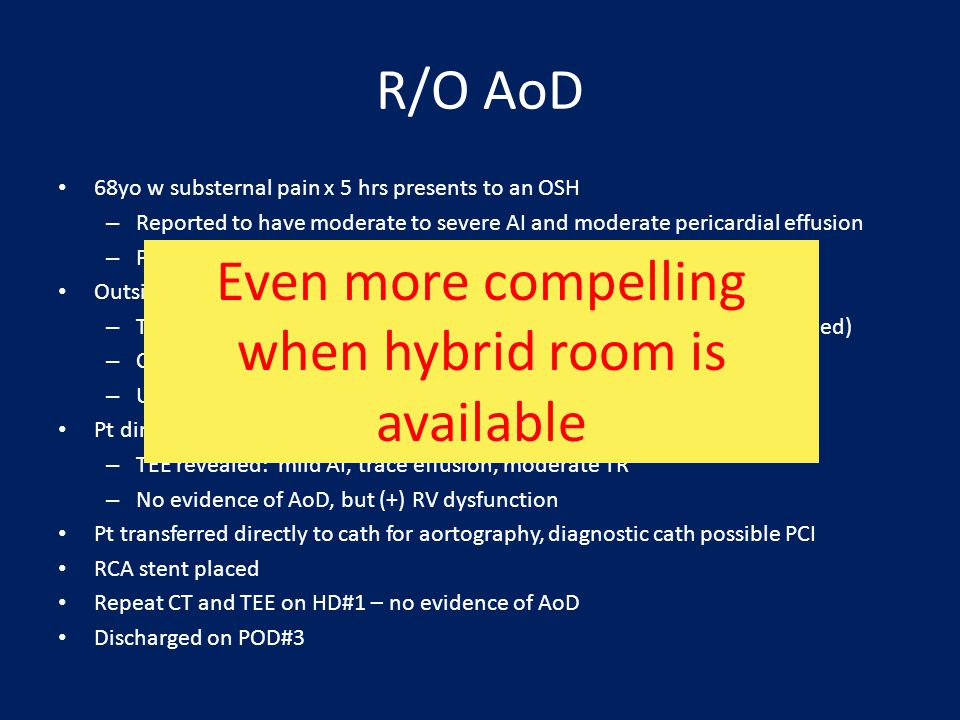 Even more compelling when hybrid room is available