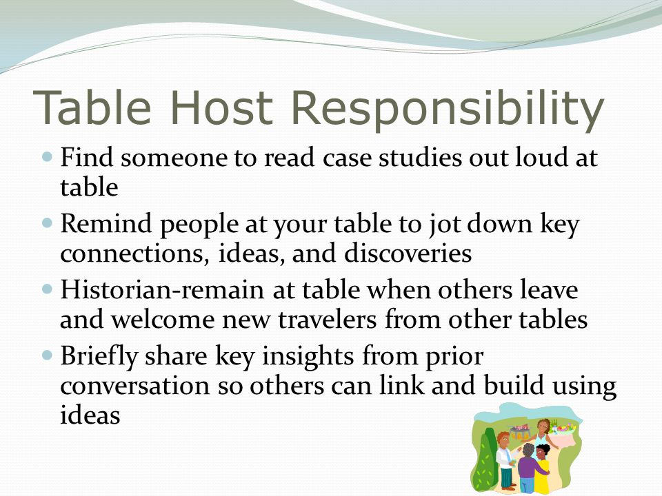 Table Host Responsibility