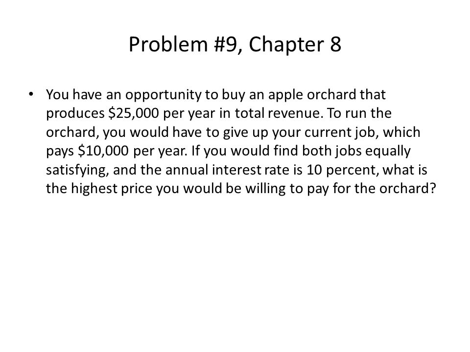 Problem #9, Chapter 8