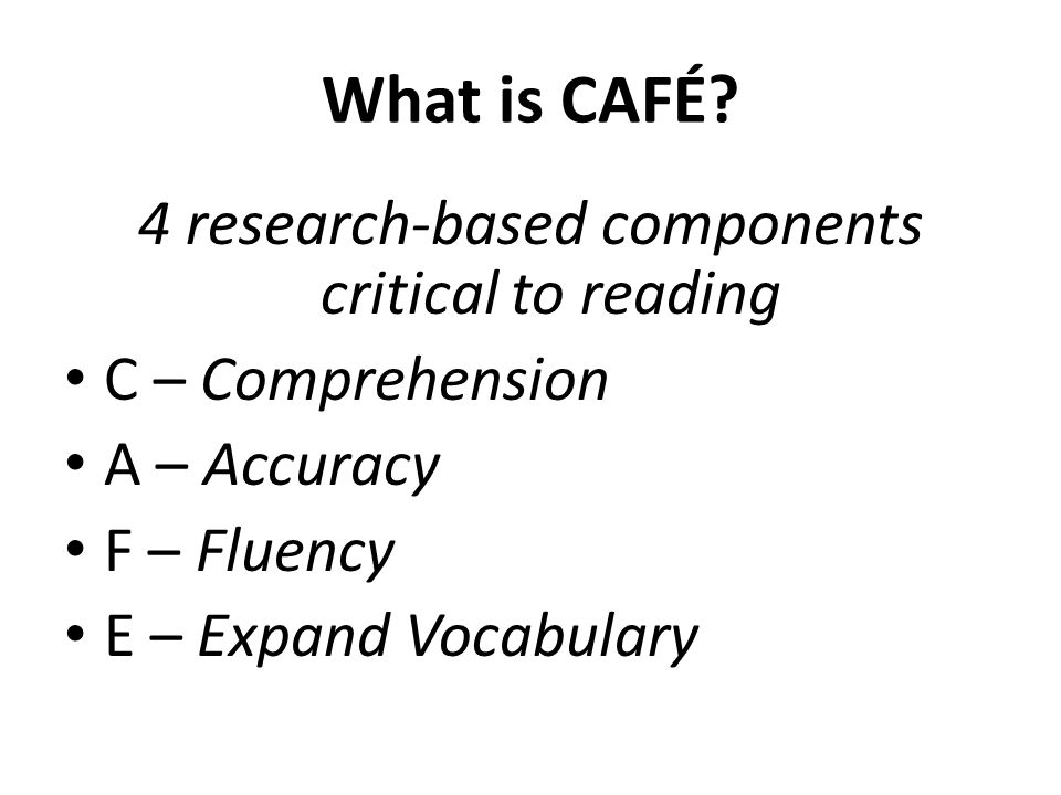 4 research-based components critical to reading