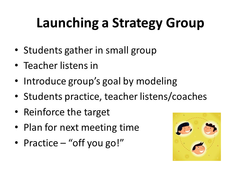 Launching a Strategy Group