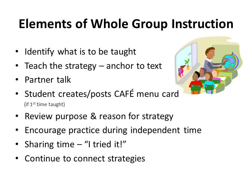 Elements of Whole Group Instruction