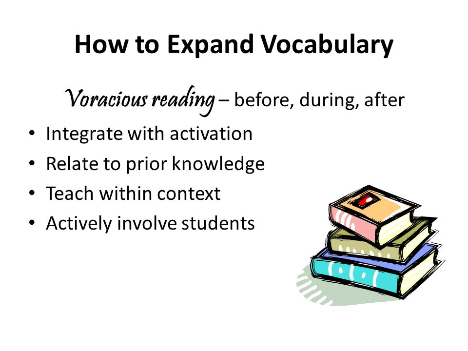 How to Expand Vocabulary