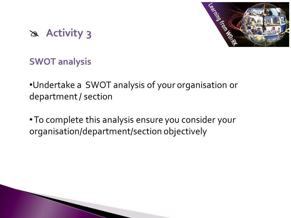  Activity 3 SWOT analysis