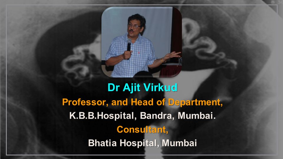 Dr Ajit Virkud Professor, and Head of Department,