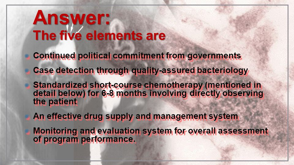 Answer: The five elements are