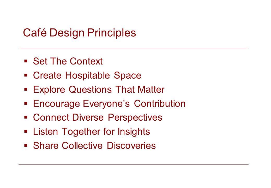 Café Design Principles
