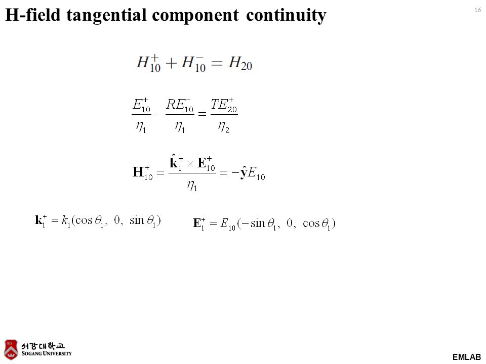 H-field tangential component continuity
