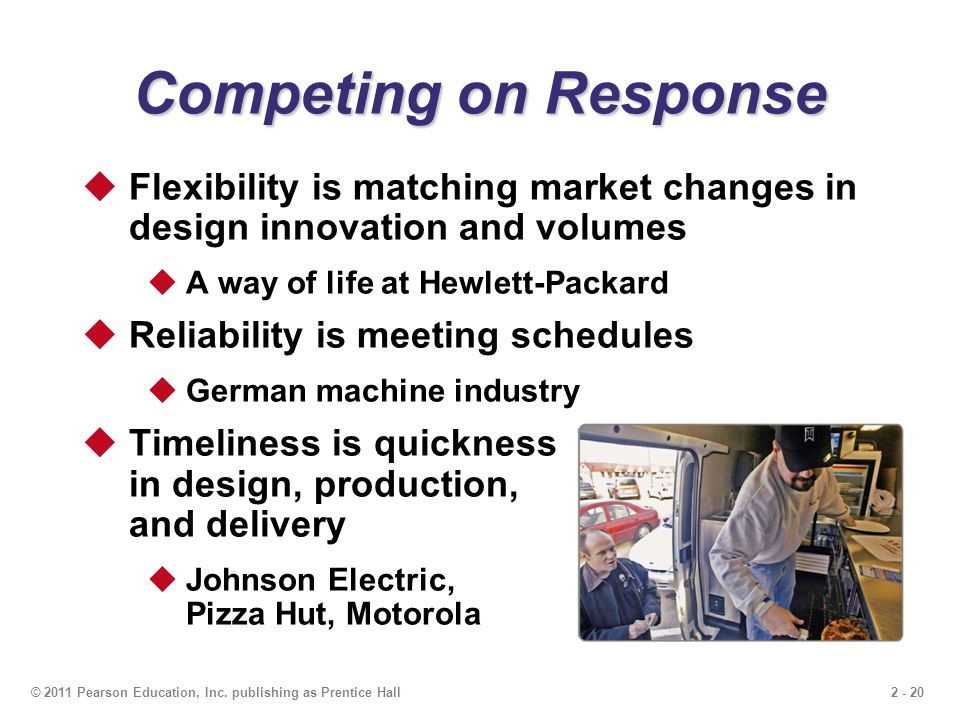 Competing on Response Flexibility is matching market changes in design innovation and volumes. A way of life at Hewlett-Packard.