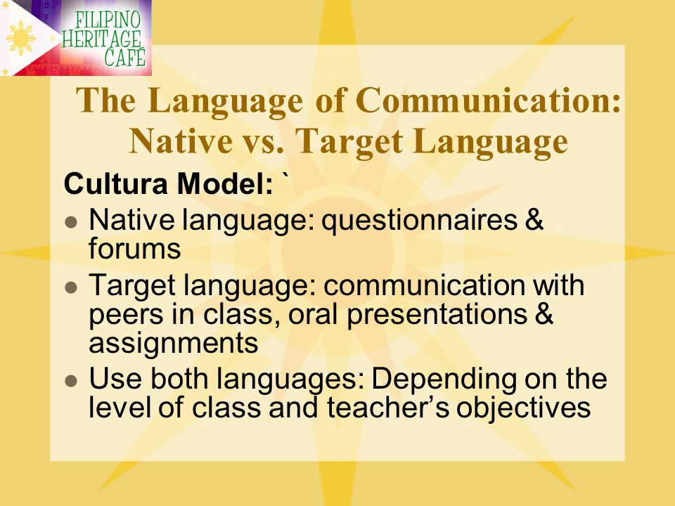 The Language of Communication: Native vs. Target Language