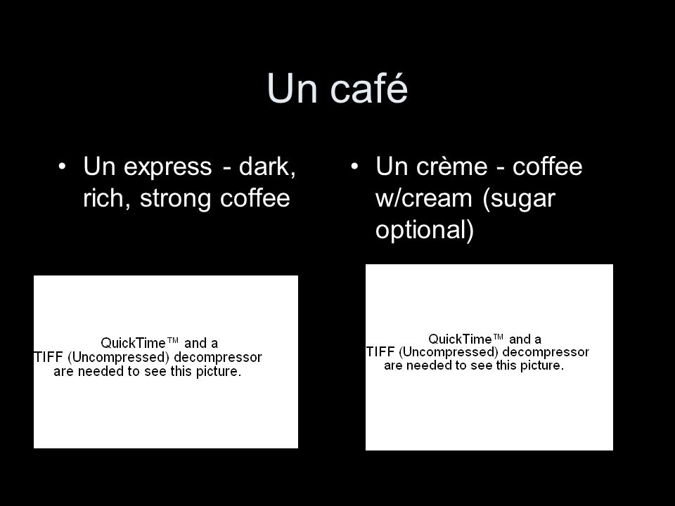 Un café Un express - dark, rich, strong coffee