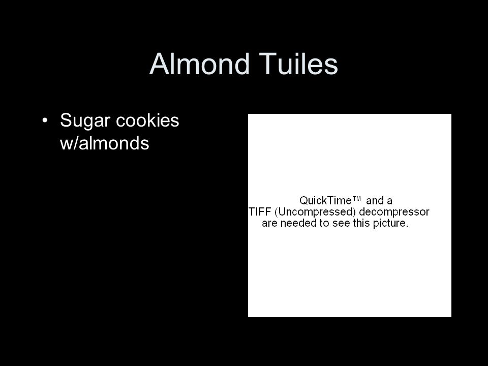 Almond Tuiles Sugar cookies w/almonds