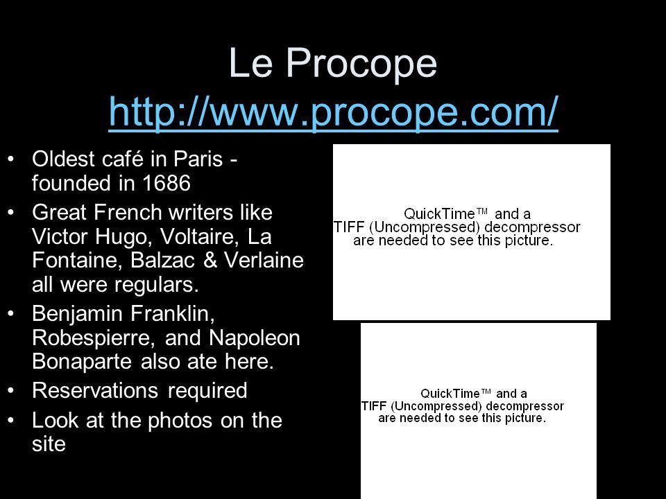 Le Procope http://www.procope.com/