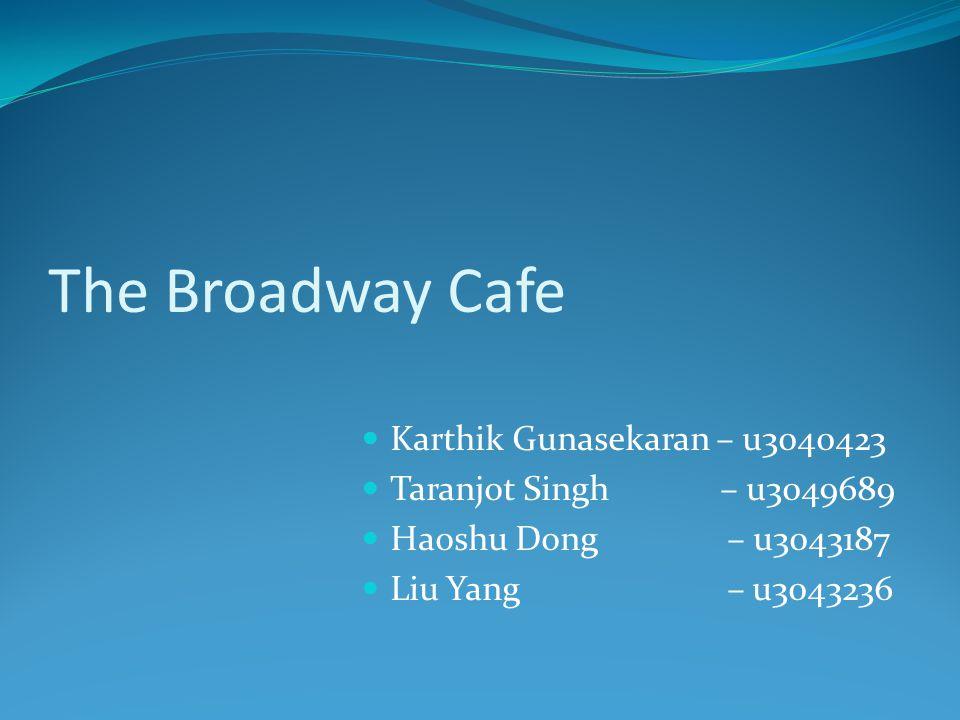 The Broadway Cafe Karthik Gunasekaran – u3040423