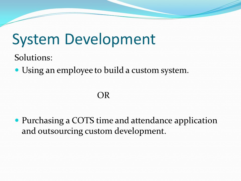 System Development Solutions: