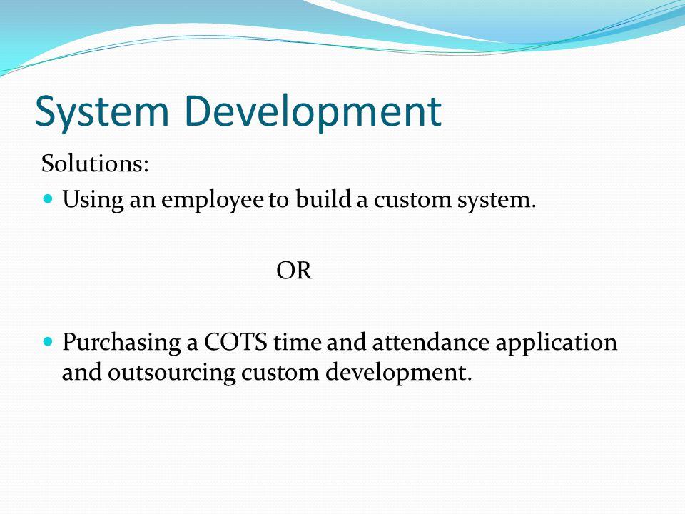 System Development Solutions: