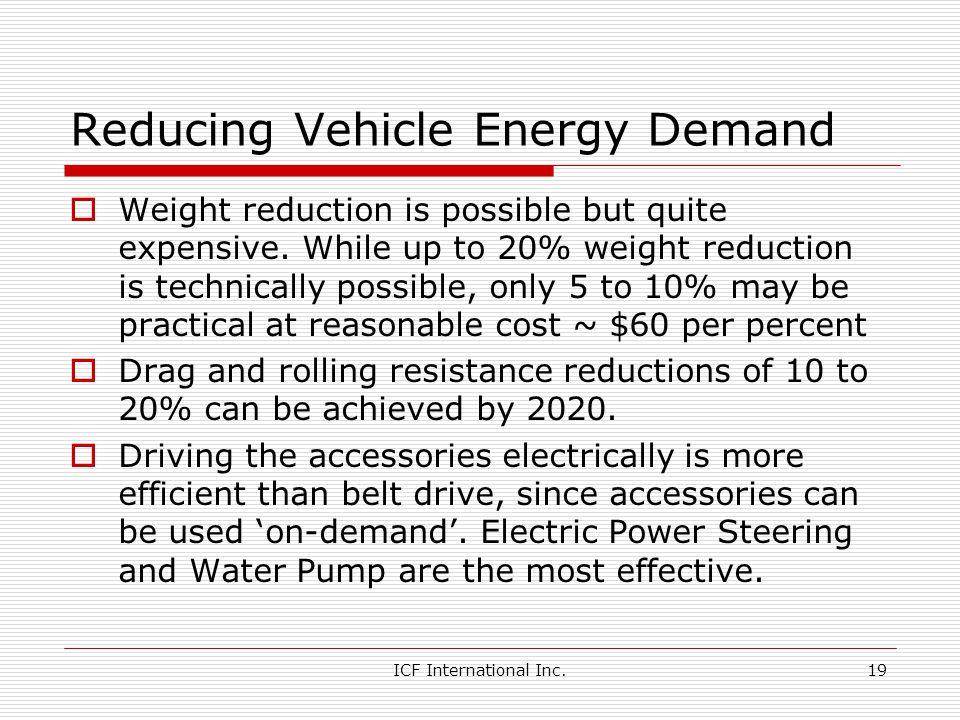 Reducing Vehicle Energy Demand