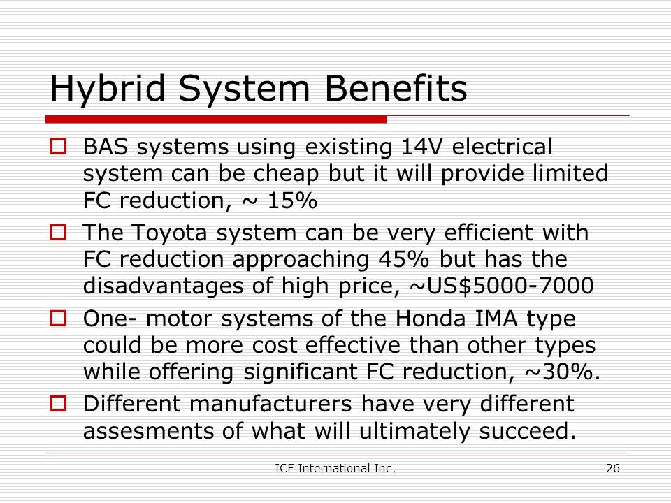 Hybrid System Benefits