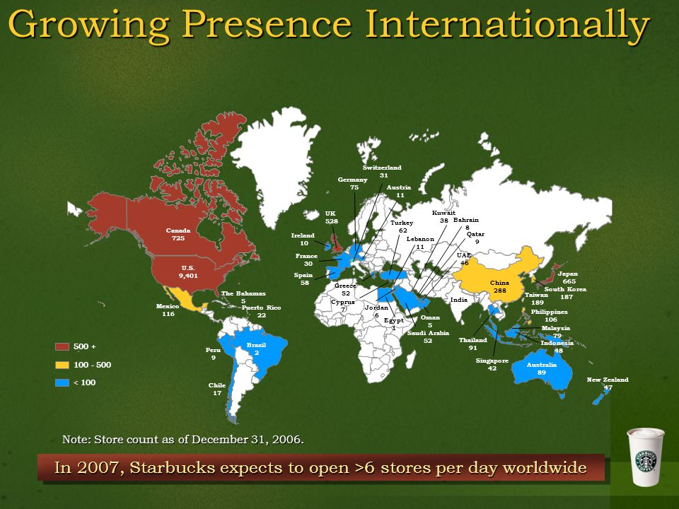 Growing Presence Internationally