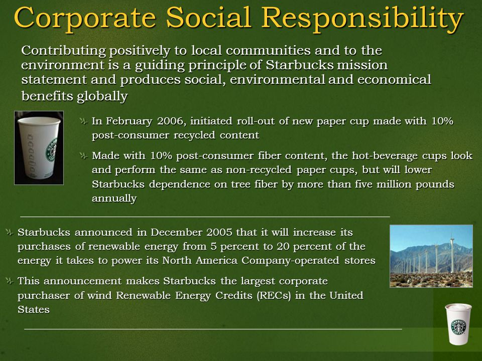 Starbucks Ethical Sourcing of Sustainable Products