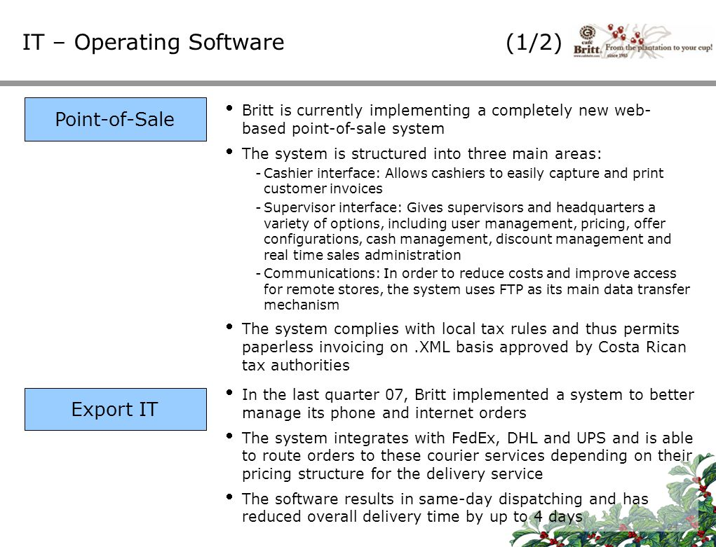 IT – Operating Software (1/2)