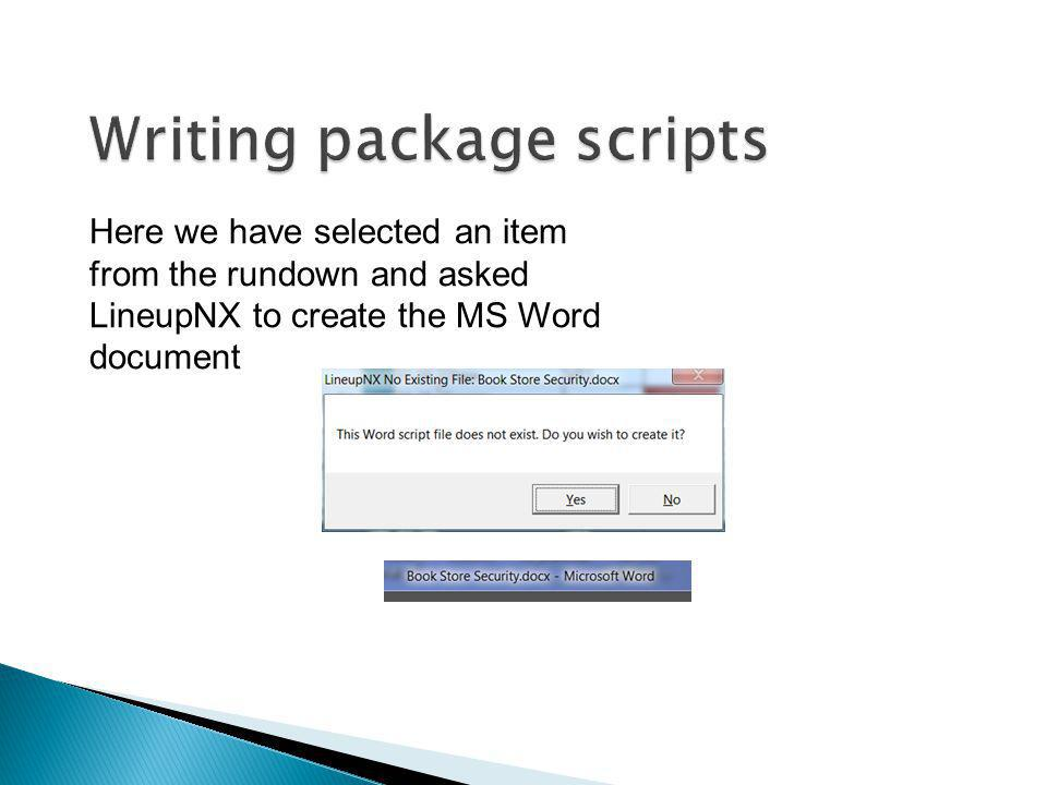 Writing package scripts